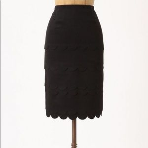 Maeve Scalloped Wool Blend Pencil Skirt size 2